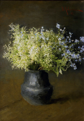 Isaac Levitan. Forest violets and forget-me-nots