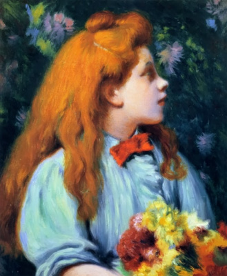 Federico Zandomenegi. Girl with flowers