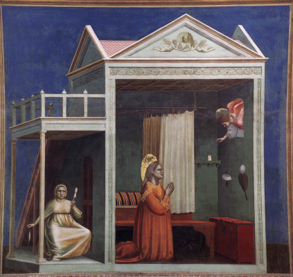 Giotto di Bondone. Annunciation to St. Anne. Scenes from the life of Joachim