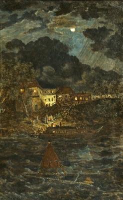 Борис Петрович Свешников. Ночной пейзаж