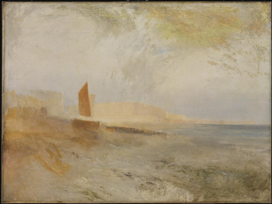 Joseph Mallord William Turner. View of Brighton from the West, with the chain pier in the distance