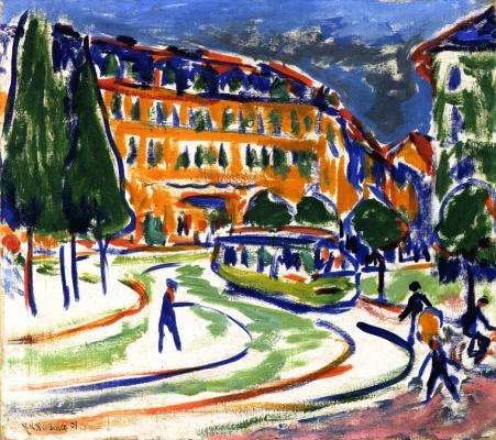 Ernst Ludwig Kirchner. The tram in Dresden
