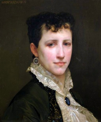 William-Adolphe Bouguereau. Portrait of miss Elizabeth Gardner