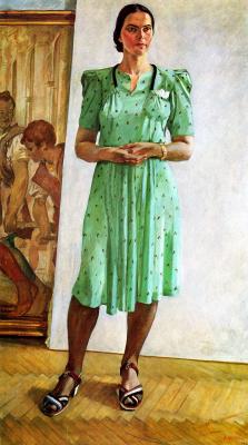 Александр Александрович Дейнека. Женский портрет. (Портрет С.И.Л.)