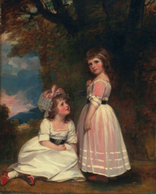 George Romney. Margaret Beckford, later Margaret Orde and Susan Eufemia Beckford, later the Duchess of Hamilton