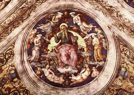 Pietro Perugino. God the Creator and angels