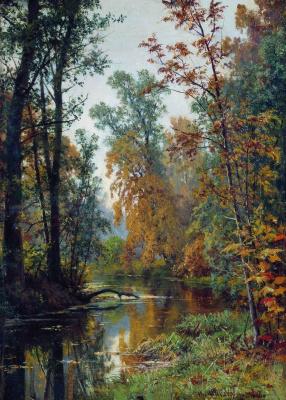 Ivan Ivanovich Shishkin. Autumn landscape. Park in Pavlovsk