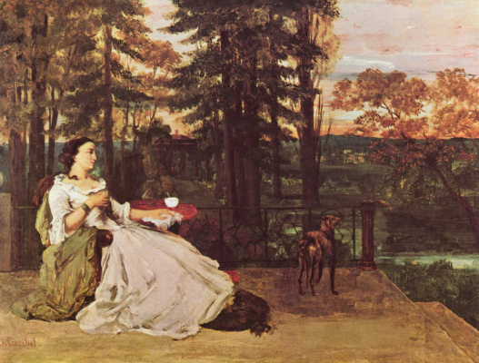 Gustave Courbet. Lady on the terrace
