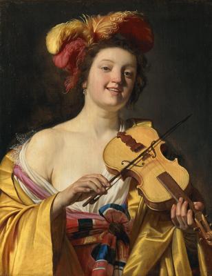 Gerard van Honthorst. Violinist