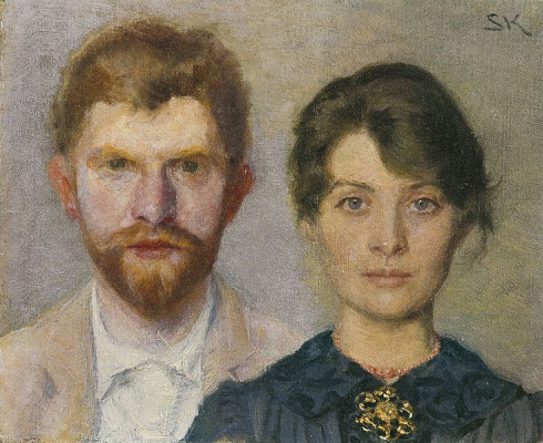 Peder Severin Kreyer. Double portrait of Marie and P. S. krøyer