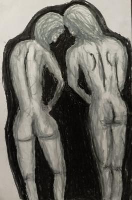 Andrey Victorovich Schekutev. ADAM AND EVE.A3 paper, marker