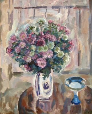 Valentina Ivanovna Rakhina. Pink chrysanthemum