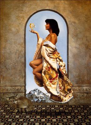 Джеймс Кристенсен. Девушка в золотом кимоно