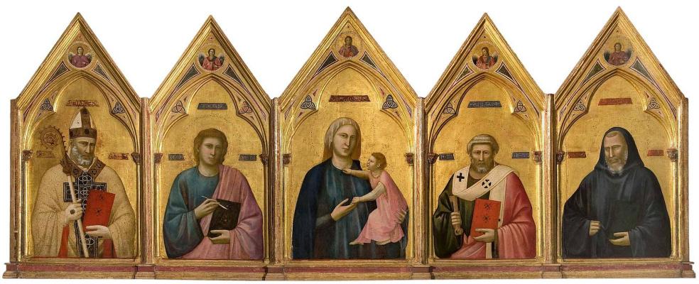 Джотто ди Бондоне. Полиптих из церкви Бадия во Флоренции