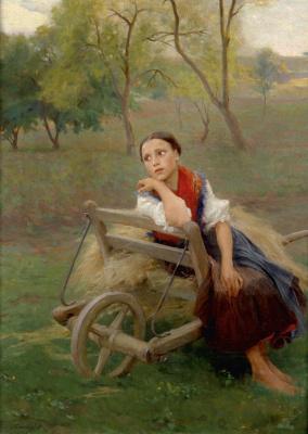 Philip De Alixis Laszlo. After work. 1896