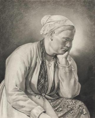 Maria Alekseevna Polenova (Voeikova). Chukhonka from the vicinity of the royal village
