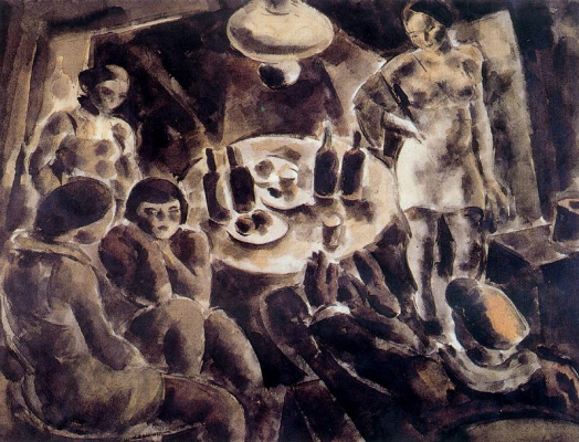 Arturo Souto. Bottles on the table