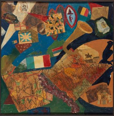 David Davidovich Burliuk. Collage on the theme of the First World War