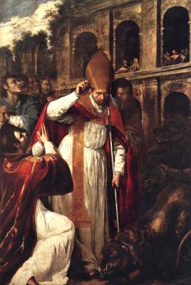 Artemisia Gentileschi. The martyrdom of St. Januarius in the amphitheater of Pozzuoli