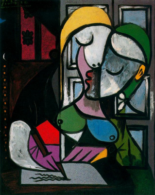 Pablo Picasso. Writing woman