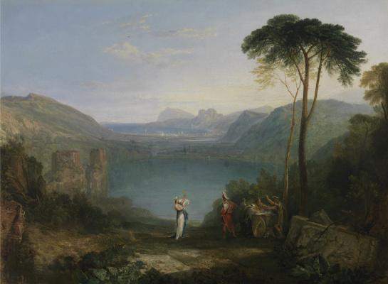 Joseph Mallord William Turner. Avarskoe the lake. Aeneas and the sibyl Kum