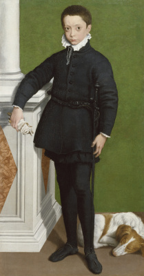 Sofonisba Anguissola. Portrait of Massimiliano Stumpa at the age of nine