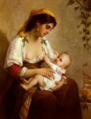 Вагнер Жюль Саллес. Мать с ребенком
