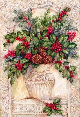 Джуди Хенд. Цветы в вазе
