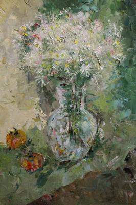 Katerina Nikolaevna Sorokina. Papin bouquet of September chamomiles
