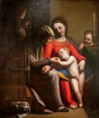 Sofonisba Anguissola. Holy Family with St. Anne and John the Baptist