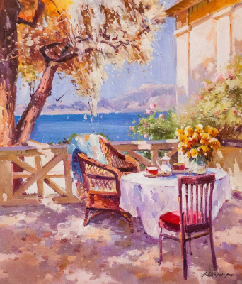 Andrey Sharabarin. On the summer terrace