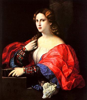Palma il Vecchio. Portrait of a woman
