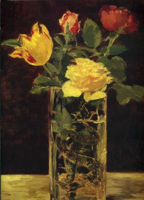 Эдуар Мане. Розы и тюльпаны