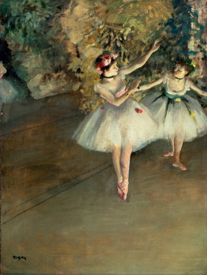 Two ballerinas on stage