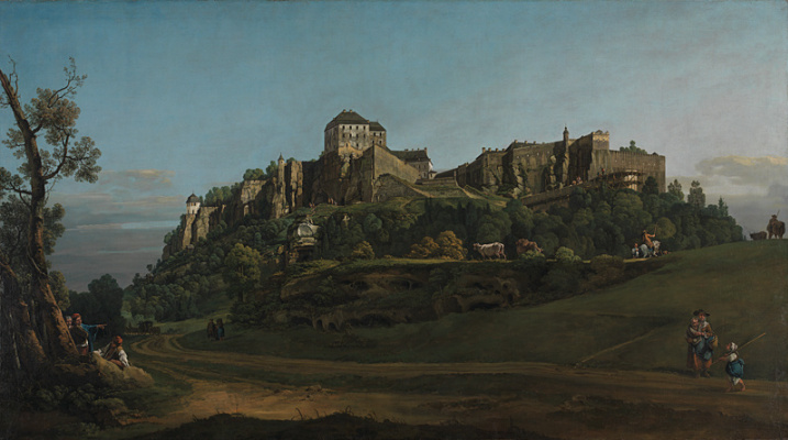 Bernardo Bellotto. The fortress of königstein from the North