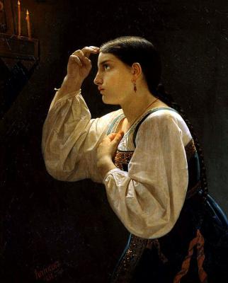 Яков Федорович Капков. Молящаяся девушка