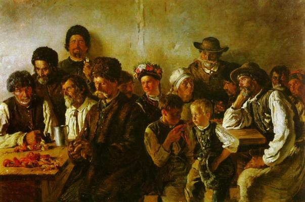 Vladimir Egorovich Makovsky. Peasants in the tavern