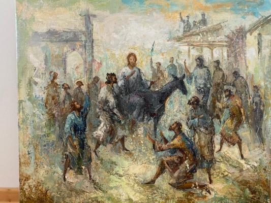 Автандил Невроевич Накашидзе (Кутубидзе). Entry of Jesus into Jerusalem