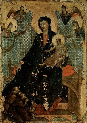 Duccio di Buoninsegna. Madonna of the Franciscans
