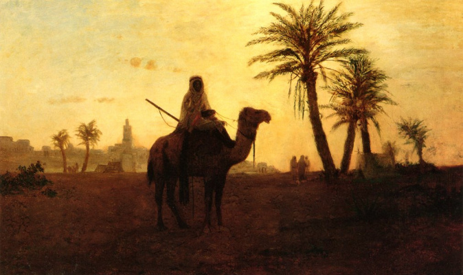 Karl Theodor Frer. Near the oasis