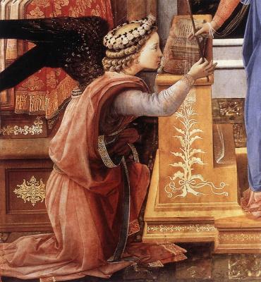Fra Filippo Lippi. Fragment Of The Annunciation