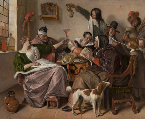 "Jan Steen. ""As the old sing, so the young pipe and plays"""