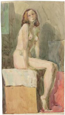 Alexandrovich Rudolf Pavlov. Seated nude.