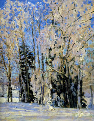 Stanislav Yulianovich Zhukovsky. The fresh fallen snow. Fragment
