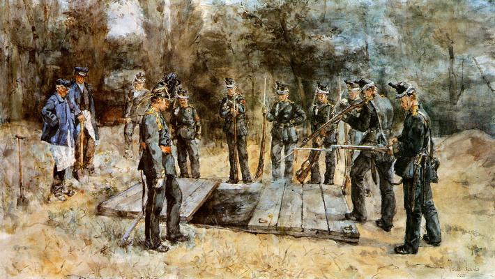 Isaac Israel. Military funeral
