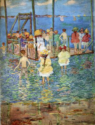 Maurice Braziel Prendergast. Children on a raft