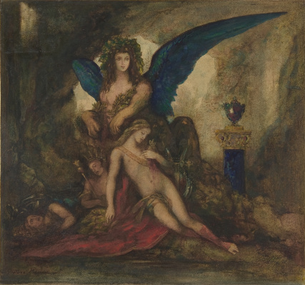 Gustave Moreau. Sphinx in the grotto