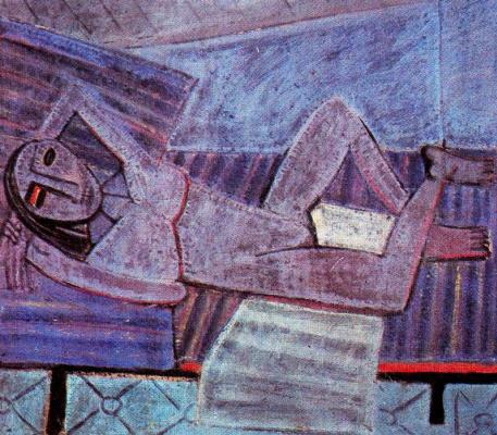 Вифредо Лам. Лежащая женщина