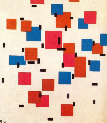 Piet Mondrian. Composition in color And