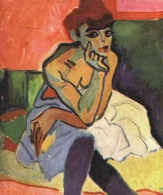 Andre Derain. Thoughtful girl